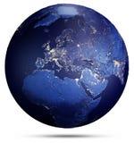 stjärnor för planet för bakgrundsjord fulla framförande 3d Arkivfoto
