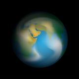 stjärnor för planet för bakgrundsjord fulla Royaltyfri Bild