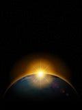 stjärnor för planet för bakgrundsjord fulla Royaltyfria Foton