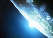 stjärnor för planet för bakgrundsjord fulla Arkivfoton