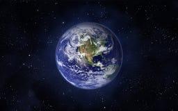 stjärnor för planet för bakgrundsjord fulla