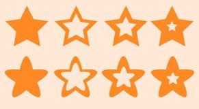 Stjärnor för plats och lekvektorillustration arkivbild