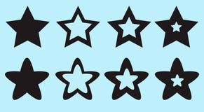 Stjärnor för plats och lekvektorillustration arkivbilder