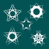 stjärnor för set för designelementdatalista glansiga Fotografering för Bildbyråer