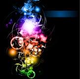 stjärnor för sparkle för bakgrundslutningregnbåge Arkivfoto