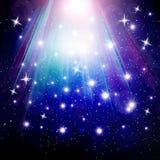 Stjärnor faller på bakgrunden Royaltyfri Bild