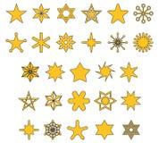 STJÄRNOR fyllda översiktssymboler vektor illustrationer