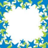 Stjärnor gränsar gjort i modern geometrisk stil, vektorbackgr Arkivbild