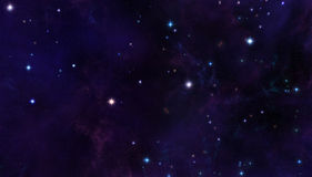 Stjärnor i avstånd Fotografering för Bildbyråer