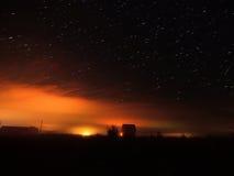 Stjärnor i dimman Arkivbilder