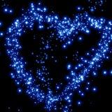 Stjärnor i forma av en hjärta stock illustrationer