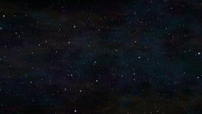 Stjärnor i utrymmebakgrund Arkivbild