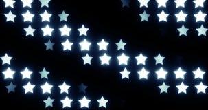 Stjärnor kretsade bakgrund stock video