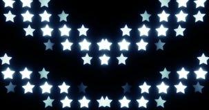 Stjärnor kretsade bakgrund (symmetrin) stock video