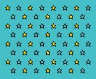 Stjärnor mönstrar Arkivfoto