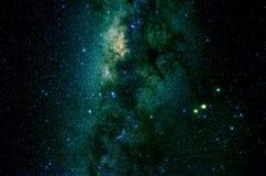 Stjärnor och bakgrund för universum för natt för galaxyttre rymdhimmel Royaltyfria Bilder