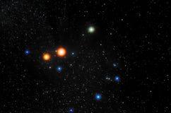 Stjärnor och bakgrund för universum för natt för galaxyttre rymdhimmel royaltyfri bild