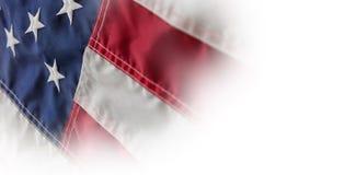 Stjärnor och band i amerikanska flaggan Arkivbild