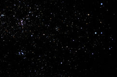 Stjärnor och galaxhimmelbakgrund Arkivbilder