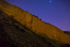 Stjärnor och kanjon Fotografering för Bildbyråer