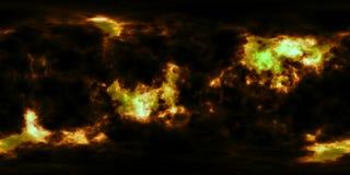 Stjärnor och nebulosa för djupt utrymme 360 grad panorama Arkivfoto