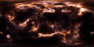 Stjärnor och nebulosa för djupt utrymme 360 grad panorama Royaltyfria Bilder
