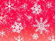Stjärnor och snöflingamodell Arkivfoto