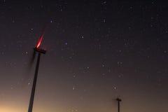 Stjärnor och väderkvarnar i Spanien Royaltyfri Foto