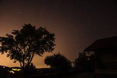 Stjärnor ovanför Zagreb Arkivbilder