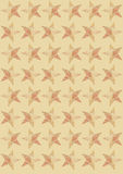 Stjärnor på beige bakgrund Royaltyfri Foto