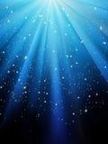 Stjärnor på blå randig bakgrund. EPS 8 stock illustrationer