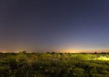 Stjärnor på himlen på natten Arkivfoto