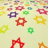 Stjärnor på kanfas med textur royaltyfri illustrationer