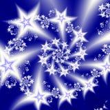Stjärnor röra sig i spiral Arkivbild