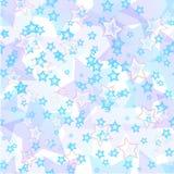 Stjärnor sömlös pattern01 Arkivfoto