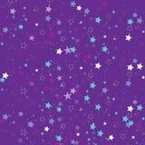 Stjärnor som isoleras på bakgrund Konfettiberöm Fallande stjärnor gör sammandrag garnering för partiet, födelsedag firar, årsdagn Arkivfoto