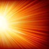 Stjärnor som stiger ned på en bana av guld- ljus. EPS 10 Royaltyfria Bilder