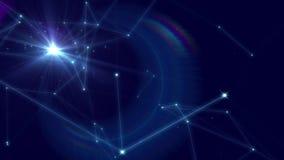 Stjärnorna flyttar sig över himlen stock illustrationer