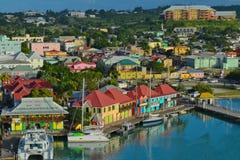 StJohn, Antigua - 8 janvier 2015 : Vue du port dans StJohn images stock