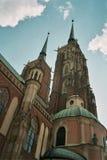 StJohn baptistkyrkan wroclaw Polen Arkivfoton