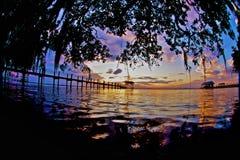 StJohns solnedgång Arkivbilder