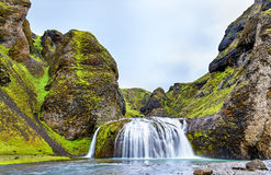 Stjornarfoss waterfall in Southern Iceland Stock Photos