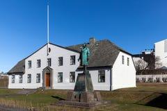 Stjornarradid isländskt kontor för premiärminister` s i Reyjavik, Ic Fotografering för Bildbyråer