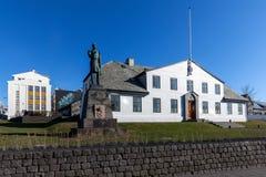 Stjornarradid isländskt kontor för premiärminister` s i Reyjavik, Ic Arkivfoton