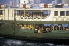 Stjärnafärja i Hong Kong Harbor Royaltyfri Fotografi