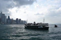 Stjärnafärja på Victoria Harbor i Hong Kong Royaltyfri Foto