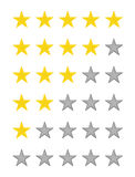Stjärnakvalitetsvärdering Arkivfoton