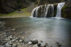 Stjrnarfoss siklawa w Iceland Zdjęcie Stock