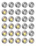 Stjärnavärderingsuppsättning Fotografering för Bildbyråer