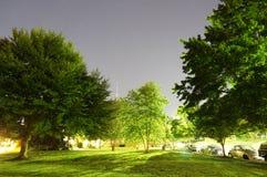 Stjärnklar sommarnatt för gryning Arkivfoton